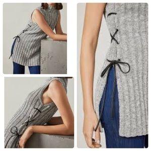BCBGMaxAzria Mock Neck Sleeveless Sweater Tunic